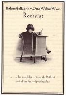 original Werbung - 1927 -  Rohrm�belfabrik Rothrist in Z�rich , Otto Weber !!!