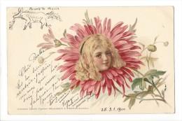 11313 - Portrait De Fillette Dans Marguerite En 1900 - Portraits