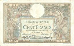 Billet 100 Francs Luc Olivier Merson - 1871-1952 Antichi Franchi Circolanti Nel XX Secolo