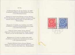 Europa Cept 1964 Switzerland 2v  In PTT-leaflet Used 1st Day (19160) - Europa-CEPT