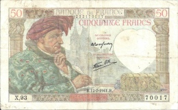 Billet 50 Francs Jacques Coeur - 1871-1952 Anciens Francs Circulés Au XXème
