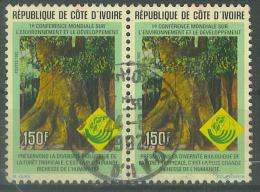 VEND BEAUX TIMBRES DE COTE D ´ IVOIRE N° 1085 PAIRE , COTE : ?,?, !!!! (b) - Côte D'Ivoire (1960-...)