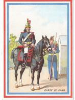 Image Chromo: Chicorée G BLACK Usine Sainte Olle Cambrai 59 Nord Illustration Militaire Garde De Paris ( Républicaine ) - Cromo