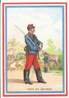 Image Chromo: Chicorée G BLACK Usine Sainte Olle Cambrai 59 Nord Illustration Militaire Train Des équipages - Trade Cards