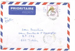 VEND TIMBRE DE MADAGASCAR N° 2583 SUR LETTRE , COTE : ? , !!!! (d) - Madagascar (1960-...)