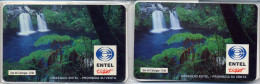 "CHILE Entel Ticket Prepaid Card Ojos Del Caburgua ""waterfalls""  $500 + $1000  2 Cards MINT  In Blister - Chili"