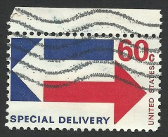 United States, 60 C. 1971, Sc # E23, Mi # 1034, Used. - Special Delivery, Registration & Certified