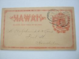 1892, Polstal Stationary Used - Hawaii