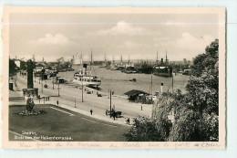 STETTIN - Terrasse Du Musée Et Vue Sur Le Port Et L' Oder - 2 Scans - Pologne
