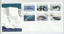 New Zealand WHALES FDC 1988 - Wale