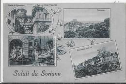 LAZIO-VITERBO-SORIANO NEL CIMINO SALUTI DA SORIANO VEDUTE MULTIPLE FORMATO PICCOLO - Italia