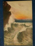 """""""""""  JOLIE  CPA  RAPHAEL  TUCK //  N° 2988 -  WHAT  ARE  THE  WILD  WAVES  SAVING  """"""""  Relief - Tuck, Raphael"""