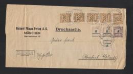 Dt. Reich Streifband 1923 München - Briefe U. Dokumente