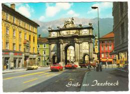 Innsbruck: FORD BRONCO, AUDI 100, OPEL KADETT-C & KADETT-B - Triumphpforte - Österreich/Austria - PKW