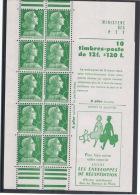 CARNET N° 1010-C1 ** Marianne De Muller, à Plier - Avec Colle Et Sans Charnière - TRES BEAU - Usage Courant