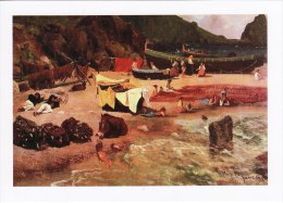 Marine Art Postcard Fishing Boats At Capri Bierstadt Sailing - Fishing Boats