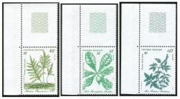 POLYNESIE 1986 - Yv. 268 à 270 ** SUP Cdf  Faciale= 1,42 EUR - Plantes Médicinales (3 Val.) ..Réf.POL21800 - Französisch-Polynesien