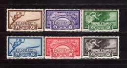 1933 - Tripolitania - Crociera Zeppelin,  Posta Aerea - 6v. -  C21/C26 - MLH - C26 MNH - Zeppelines