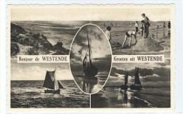Westende Aan Zee Strandspelen Zeilboten Kinderen - Middelkerke