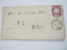 1872,  LUDWIGSLUST    , Klarer Stempel Auf Brief - Mecklenburg-Schwerin
