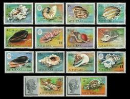 AITUTAKI COOK ISLANDS 1974 MARINE LIFE SHELLS NAUTILUS SET MNH - Aitutaki