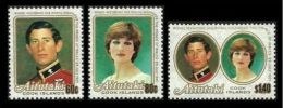 AITUTAKI COOK ISLANDS 1981 ROYAL WEDDING DIANA SET MNH - Aitutaki