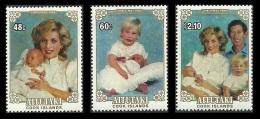 AITUTAKI COOK ISLANDS 1984 ROYALTY CHRISTMAS WILLIAM DIANA HENRY SET MNH - Aitutaki