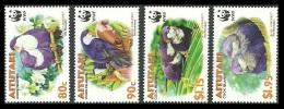 AITUTAKI COOK ISLANDS 2002 BIRDS PARAKEETS WWF WILDLIFE SET MNH - Aitutaki