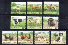New Zealand - 1995 - Farmyard Animals (40 Cent Values) - Used - Nouvelle-Zélande