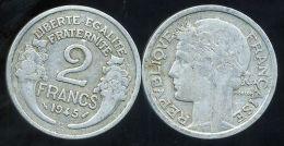 FRANCE  2 Francs  MORLON   1945 C - France