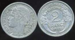 FRANCE  2 Francs  MORLON   1945 B - France