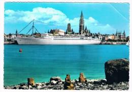 SCH-320   ANTWERPEN  : Cruiseship In The Harbour - Dampfer