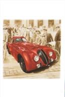 24 Heures Du Mans 1938  -  Alfa Romeo 8C 2900    -   Tableau De Francois Bruère  -  Carte Postale - Le Mans