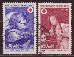 FRANCE - 1971 - YT N° 1700 / 1701  -oblitérés - Croix Rouge - France