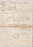Département De L´Yonne - 1895 - Notification Par Le Préfet Du Remplacement D'un Instituteur Par Un Autre Instituteur - Diploma & School Reports