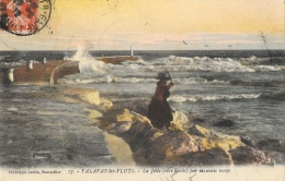 Palavas-les-Flots - La Jetée (rive Droite) Par Mauvais Temps - Phototypie Galdin - Palavas Les Flots