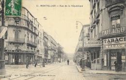 Montpellier - Rue De La République - Café Des Négociants - Edition Nouvelles Galeries - Montpellier