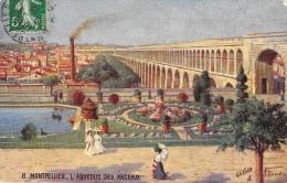 Montpellier - L'Aqueduc Des Arceaux - Illustration N. Béraud - Carte Tuck Oilette - Montpellier