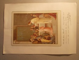 Document Religion CHROMO : Diplôme Communion Solennelle 1922 - Editeur BOUASSE JEUNE (15) - Religion & Esotericism
