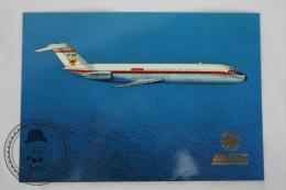 Airline Transport Postcard -  Iberia Airlines - DC 9 Douglas Jet - Dirigibili