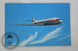 Airline Transport Postcard -  Iberia Airlines - Caravelle VI - R - Aeronaves