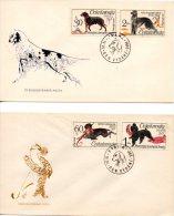 TCHECOSLOVAQUIE. N°1408-13 De 1975 Sur 3 Enveloppes 1er Jour. Chiens. - Hunde