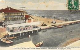 Palavas-les-Flots - Le Modern'Hôtel De La Méditerranée Et La Plage (rive Gauche) - Phototypie Galdin - Palavas Les Flots