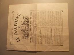 Journal LE DAUPHINE Du 27/06/1912 N°2854 - Journal Des Etrangers Dans Les Alpes (21/25) - Journaux - Quotidiens