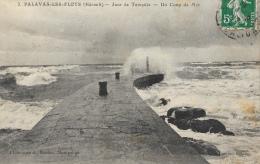 Palavas-les-Flots - Jour De Tempête - Un Coup De Mer - Phototypie A. Bardou - Edition Claparède - Palavas Les Flots