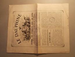 Journal LE DAUPHINE Du 04/07/1912 N°2856 - Journal Des Etrangers Dans Les Alpes (16/20) - Autres