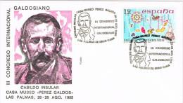 11431. Carta LAS PALMAS (Canarias) 1985. Perez Galdós, Congreso Galdosiano - 1931-Oggi: 2. Rep. - ... Juan Carlos I