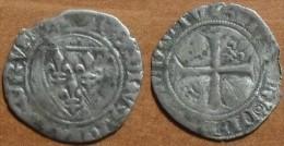 1388 ND - France - 1/2 BLANC Dit Guénar, CHARLES VI Le Fol, Argent, Silver, Dy 378A - 1380-1422 Charles VI Le Fol