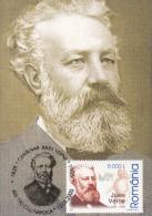Jules Verne, Romania. Max Card 19917 - Cartes-maximum (CM)