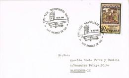11434. Carta LAS PALMAS (Canarias) 1980. Aeropuerto De GANDO - 1931-Hoy: 2ª República - ... Juan Carlos I